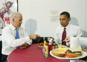 ... Obama ordering burgers and French fries at popular East coast chain