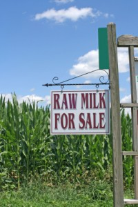 Raw Milk Sign