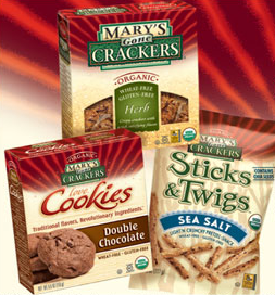 Gluten FREE Q Mary's Gone Crackers